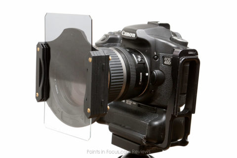 "Cokin Z-Pro Filter holder with 4"" split ND filter in place."