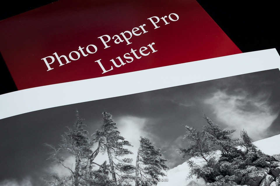 Canon Photo Paper Pro Luster Review Points In Focus Photography