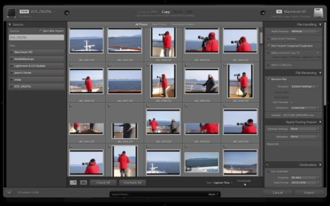 The old Lightroom import screen.