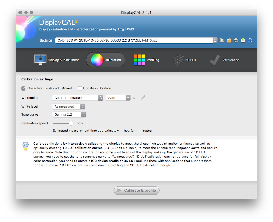 DisplayCAL and Argyll CMS: Quick Start Guide • Points in