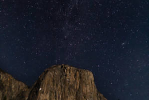 El Capitan Climbers and the Milky Way